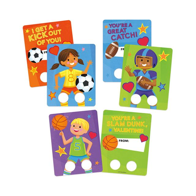 Peaceable Kingdom Sports Finger Puppet Valentine Cards