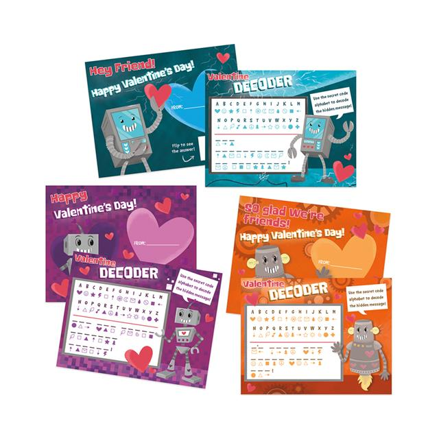 Peaceable Kingdom Decoder Games Valentine Cards