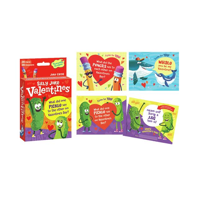 Peaceable Kingdom Silly Jokes Valentine Cards
