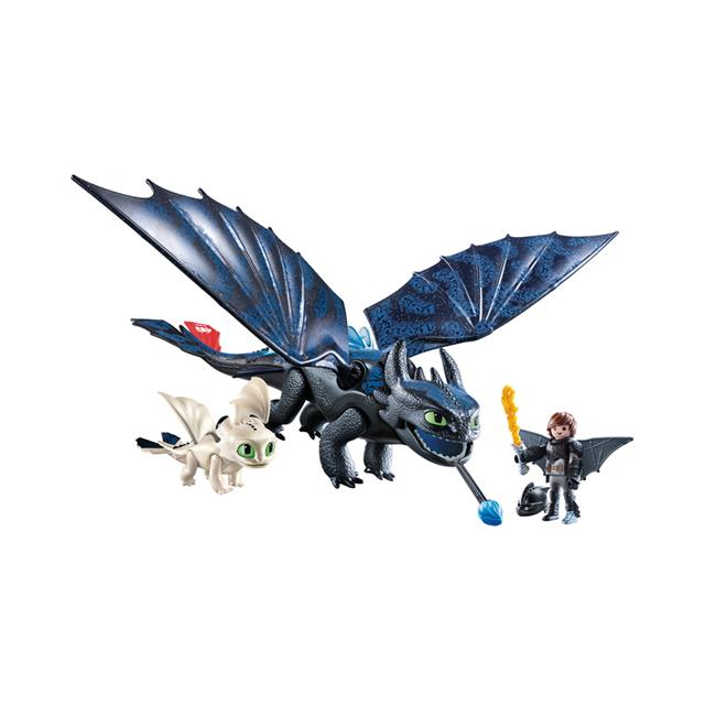 Playmobil DreamWorks Dragons Hiccup and Toothless with Baby Dragon