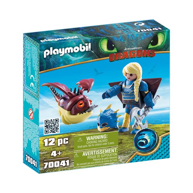 Playmobil DreamWorks Dragons Astrid with Flight Suit and Hobgobbler