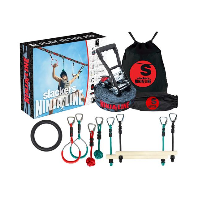 Slackers Ninjaline™ Intro Kit with 7 Hanging Obstacles