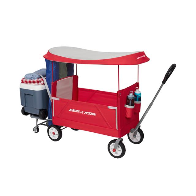 Radio Flyer EZ Fold 3-in-1 Tailgater Wagon with Canopy