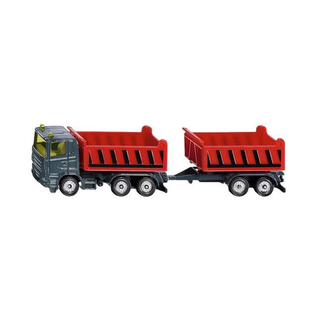 Siku Truck with Dumper Body and Tipping Trailer