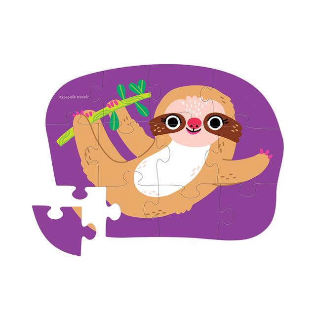 Crocodile Creek Sweet Sloth 12pc Puzzle