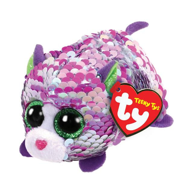 Ty Teeny Tys Lilac the Sequin Cat