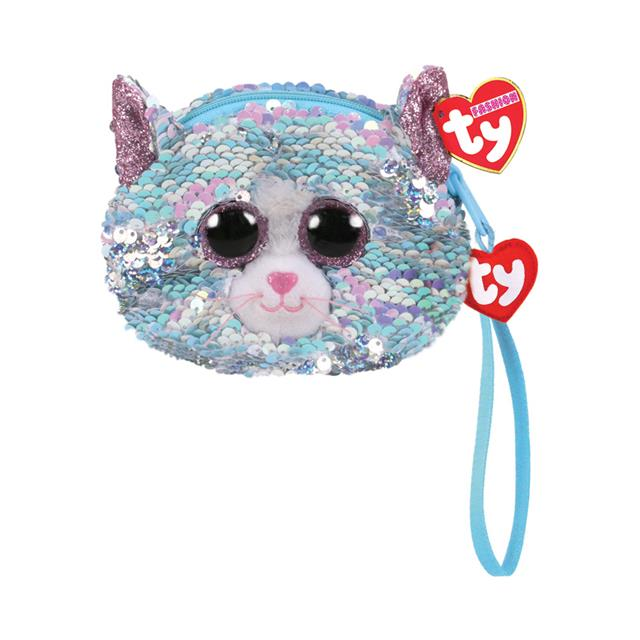 Ty Fashion Whimsy the Cat Sequin Wristlet