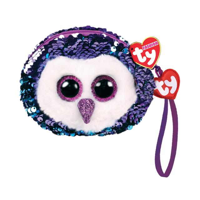 Ty Fashion Moonlight the Owl Sequin Wristlet