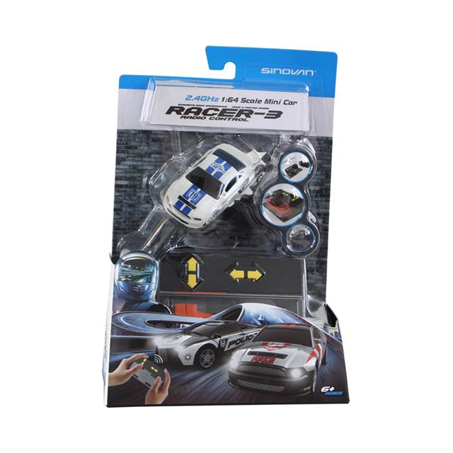 Mini RC Race Car 1:64 Scale - White & Blue