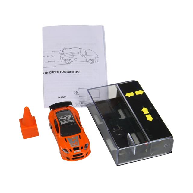 Mini RC Race Car 1:64 Scale - Orange