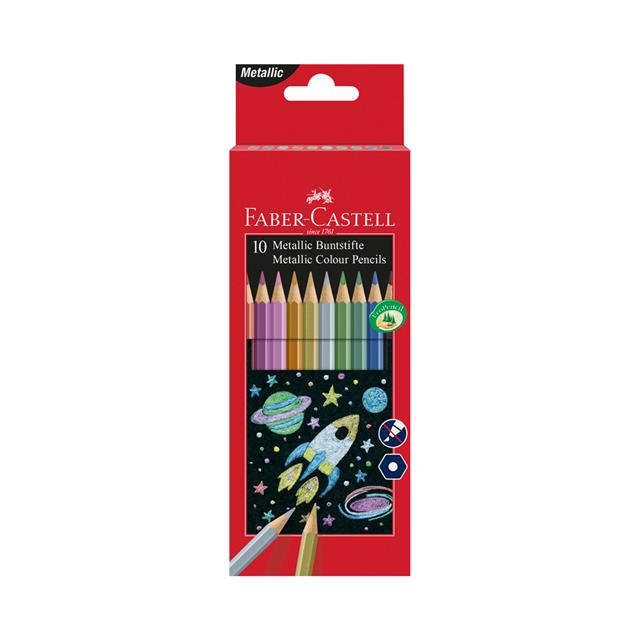 Faber-Castell Metallic Colour Pencils 10 Pack