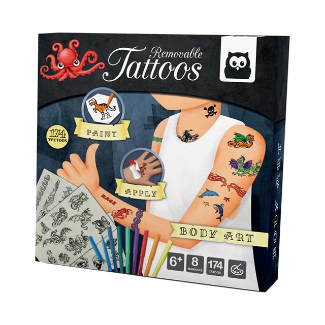 Owl Toys Removable Tattoos Kit