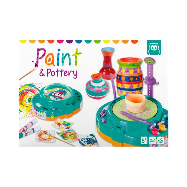 Owl Toys Paint & Pottery Set