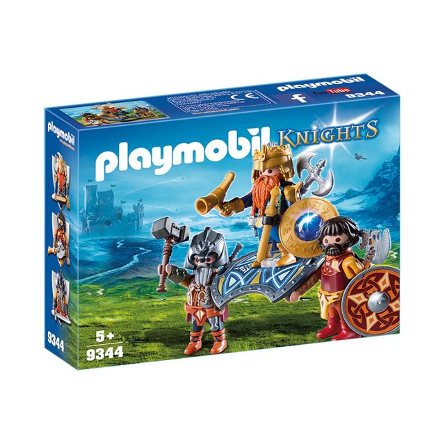 Playmobil Knights Dwarf King with Guards