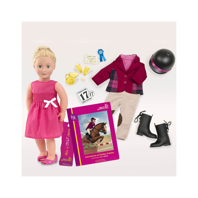"Our Generation Deluxe Lily Anna 18"" Doll with Book"
