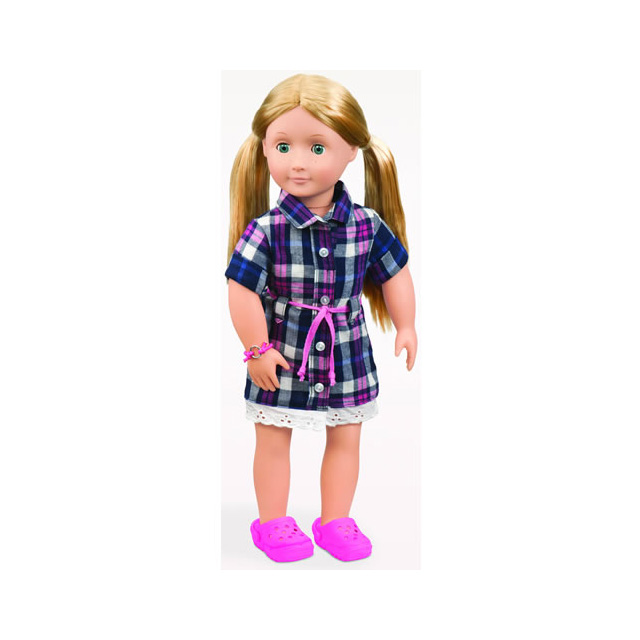 "Our Generation Deluxe Shannon 18"" Doll with Book"
