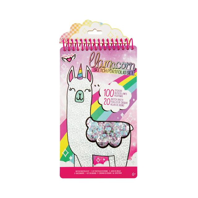 Fashion Angels® Llamacorn Sketch Portfolio Set