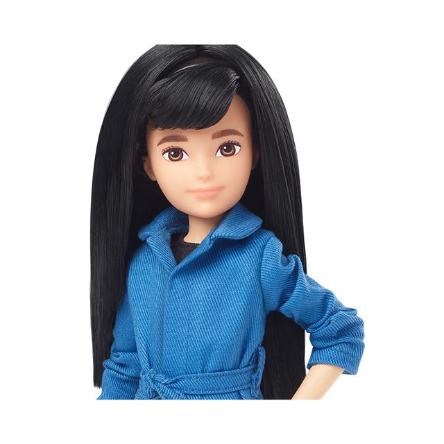 Creatable World™ Deluxe Character Kit Customizable Doll - Black Straight Hair