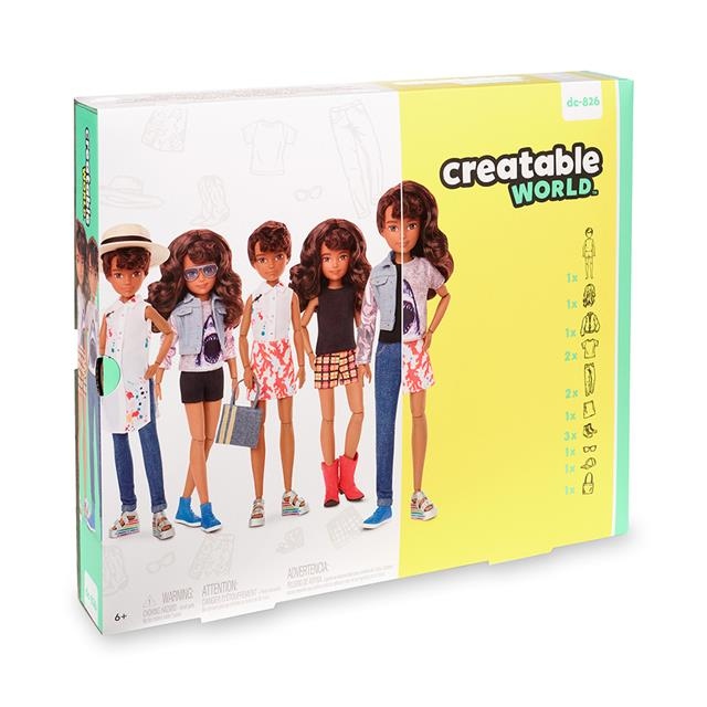 Creatable World™ Deluxe Character Kit Customizable Doll - Brunette Wavy Hair