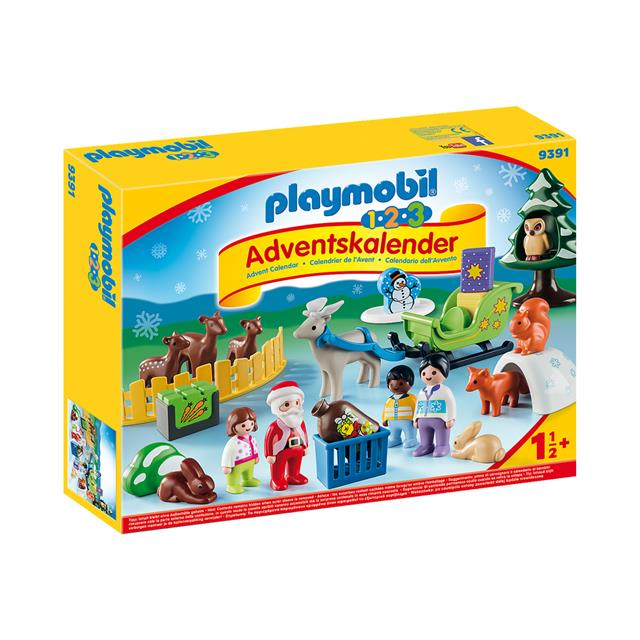 Calendrier 2020 Playmobil.Playmobil 1 2 3 Christmas In The Forest Advent Calendar