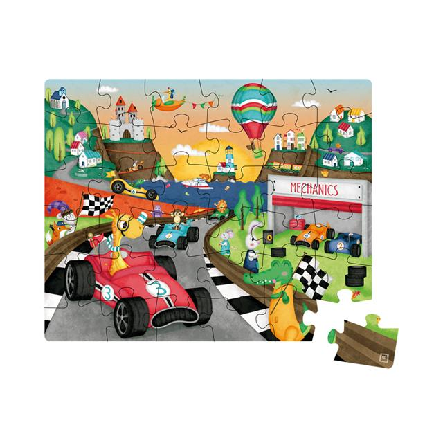 Owl Toys Racing Cars 36pc Puzzle