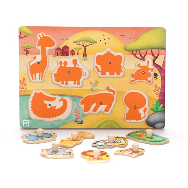 Owl Toys Jungle Sound Puzzle