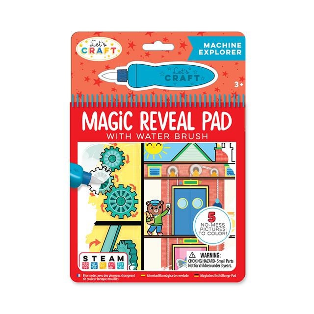 Let's Craft STEAM Magic Reveal Pad with Water Brush