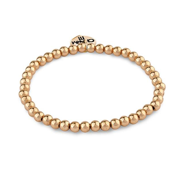 CHARM IT! Gold Bead Stretch Bracelet