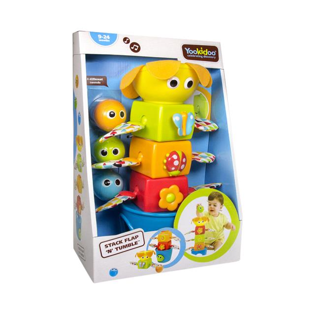 Yookidoo Stack Flap 'N' Tumble Toy