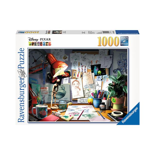 Ravensburger Disney·Pixar The Artist's Desk 1000pc Puzzle