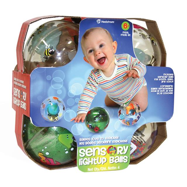 Sensory Light Up Balls 4 Pack Assorted