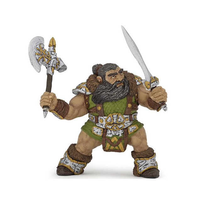 Papo Dwarf Warrior with Axe Figure