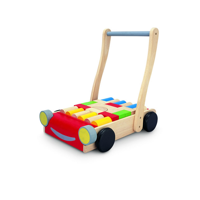 Plan Toys Baby Walker With 24 Wooden Blocks