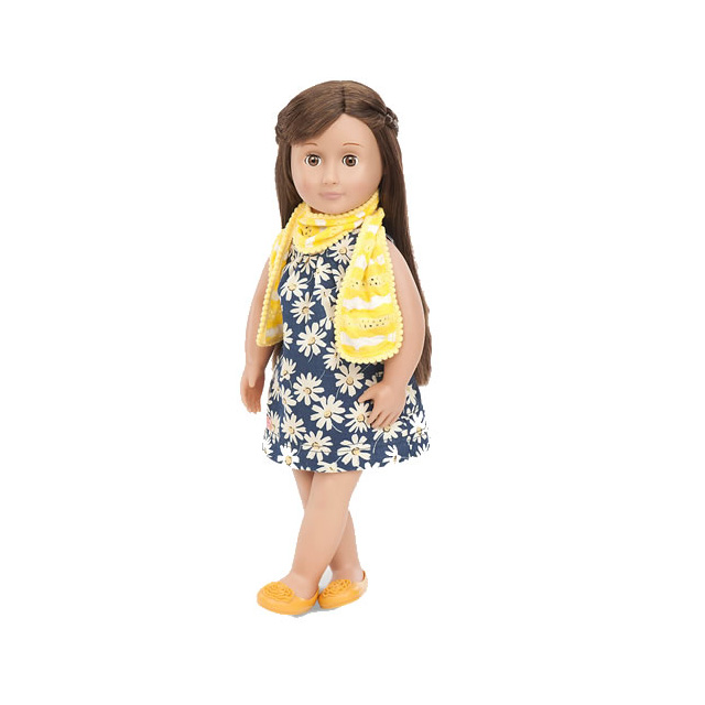 "Our Generation Deluxe Reese 18"" Doll with Book"