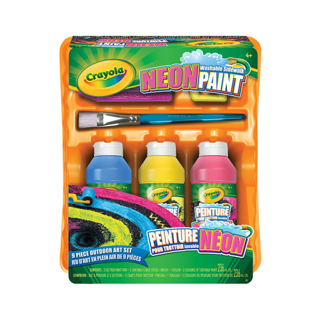 Crayola Washable Neon Sidewalk Paint Outdoor Art Set