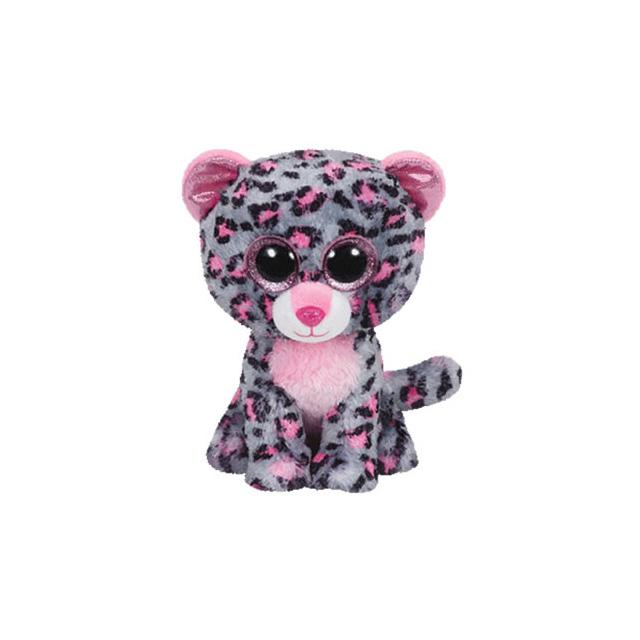 be55b86e525 Ty Beanie Boos Tasha the Pink and Grey Leopard