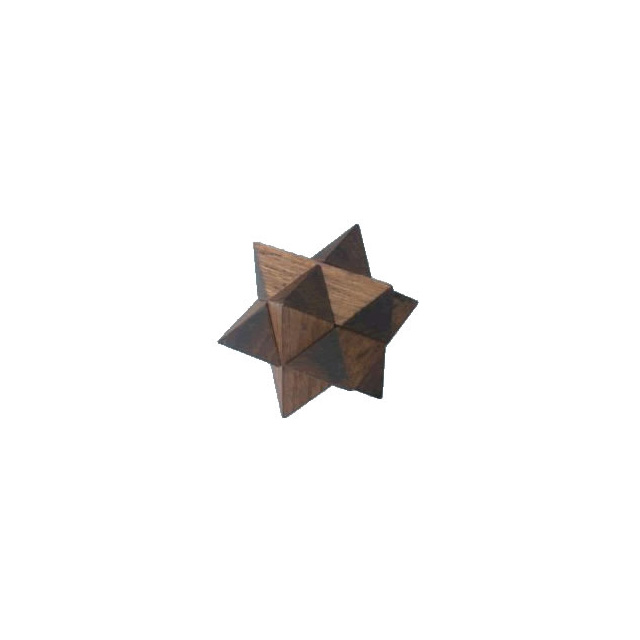 3-D Mini Wooden Star Puzzle