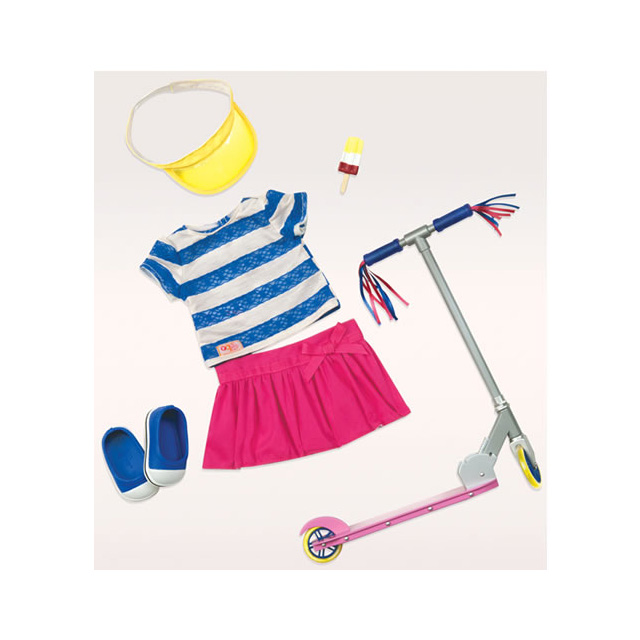 "Our Generation Cute to Scoot 18"" Doll Outfit"