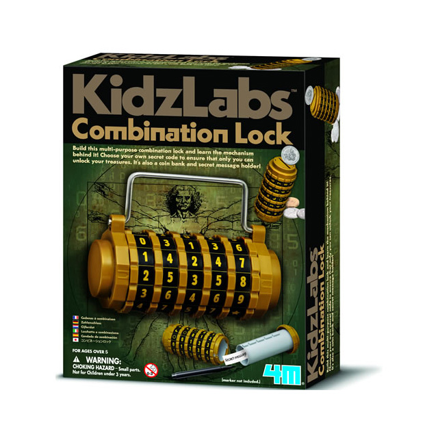 4M Kidz Labs Combination Lock Kit
