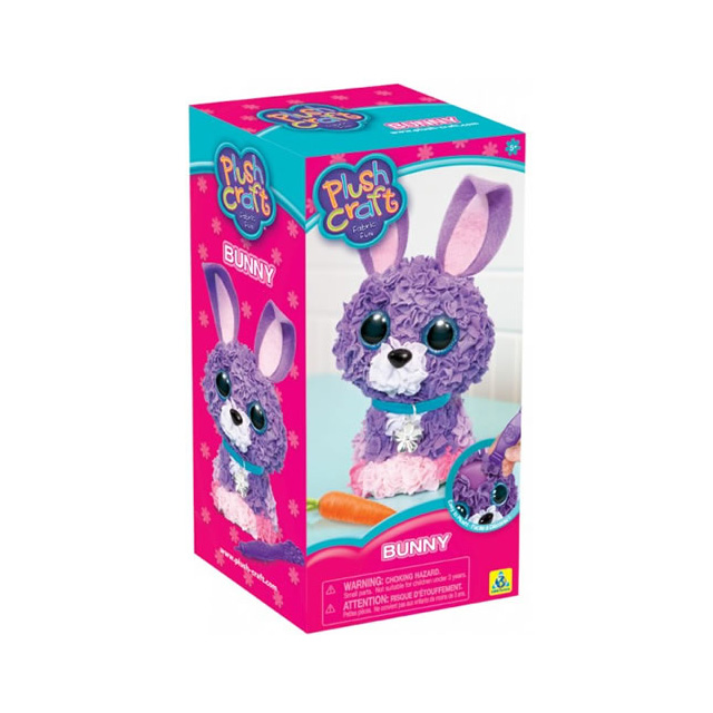 The Orb Factory Plush Craft 3D Bunny