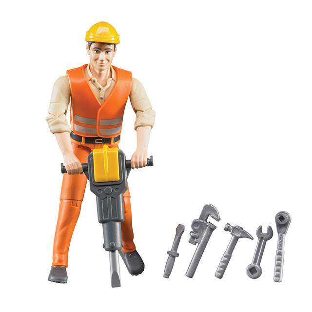 Bruder Construction Worker Figure