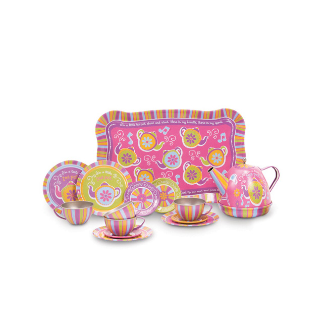 Schylling ''I'm a Little Tea Pot..'' Musical Tin Tea Set