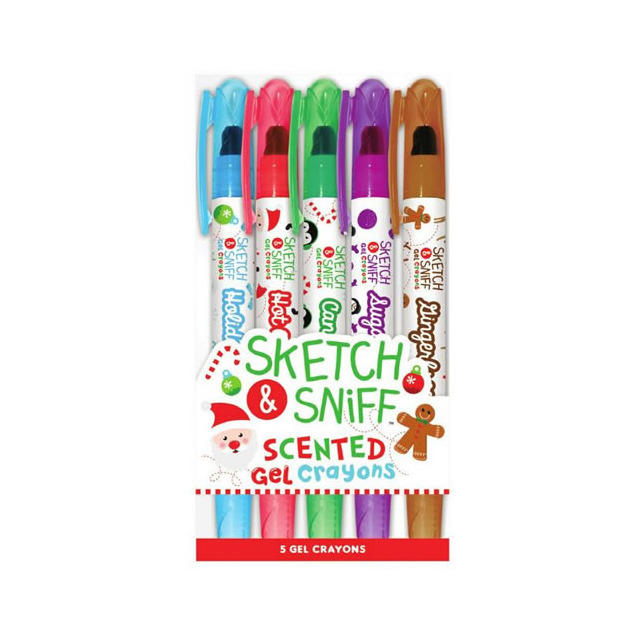 Holiday Sketch & Sniff Scented Gel Crayons 5pk