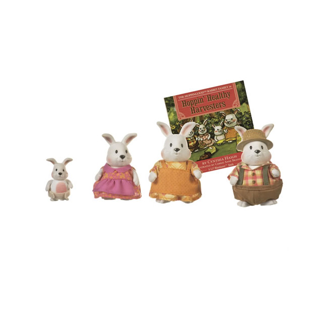 Li'l Woodzeez The Hoppingood™ Rabbit Family with Storybook