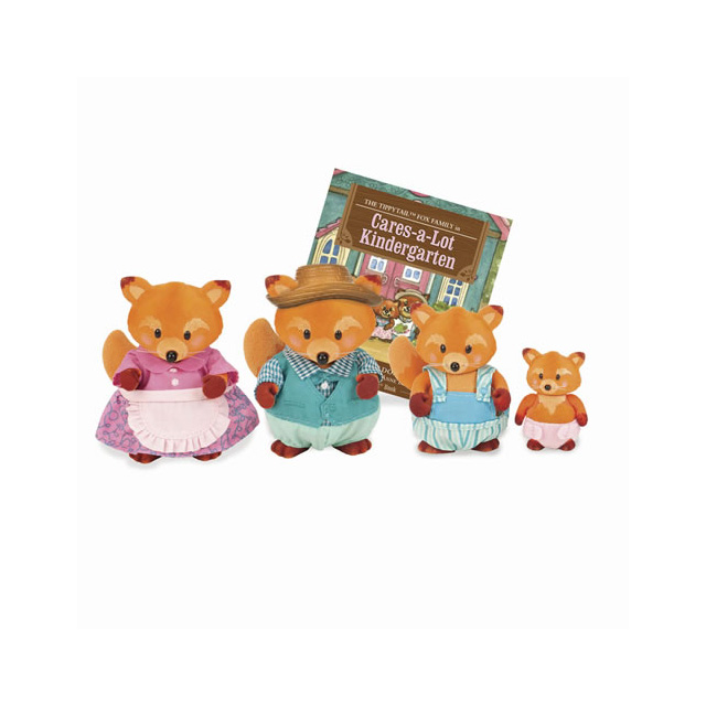 Li'l Woodzeez The Tippytails™ Fox Family with Storybook