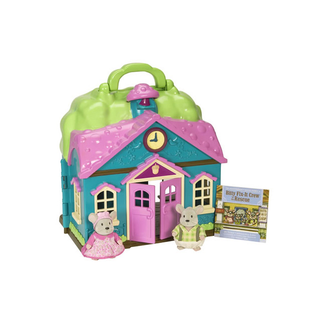 Li'l Woodzeez Honeysuckle Schoolhouse™ with Mice and Storybook