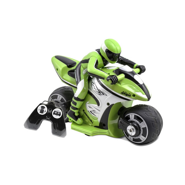 Kid Galaxy Kawasaki Ninja RC Motorcycle with Rider 27 MHz
