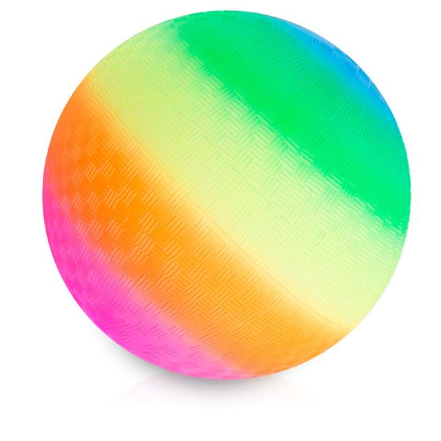 Neon Rainbow Playground Ball 7''