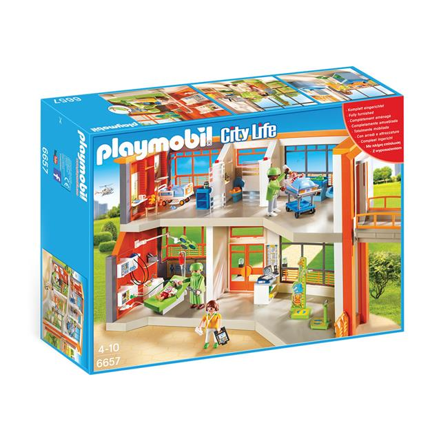 Playmobil City Life Children's Hospital Furnished Hospital