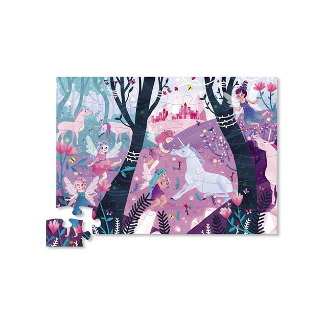 Crocodile Creek Unicorn Forest 36 Piece Puzzle